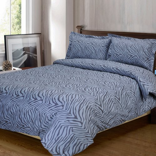 Superior Light Weight and Super Soft Brushed Microfiber, Wrinkle Resistant Duvet Cover Set with Animal Print