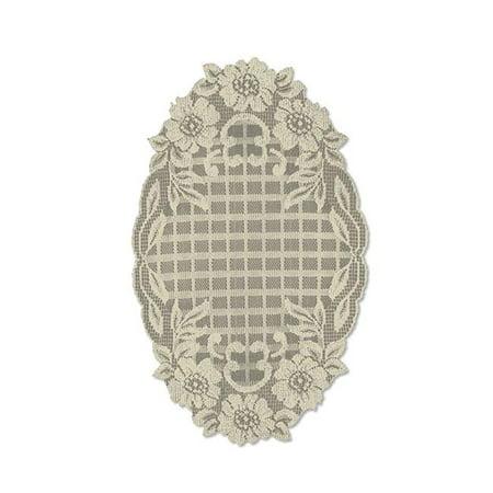 Lace Doilies For Sale (Heritage Lace FT-1118L Floral Trellis 11 x 18 in. Doily -)