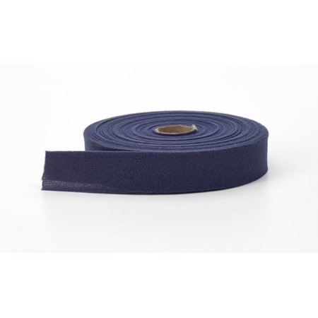 Quilt binding, brushed, 2 in fold in half, finish 1 in, 25 yds, Navy