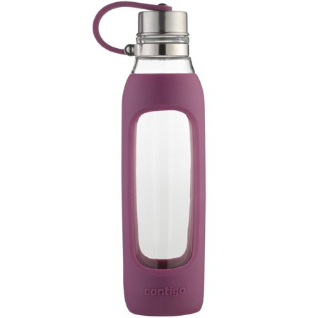 Radiant Silicone (Contigo Purity Glass Water Bottle with Silicone Sleeve and Tether, 20 oz., Radiant)