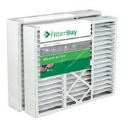 2 - 20x25x5 Honeywell FC100A1037 Pleated AC Furnace Air Filters. AFB Silver MERV 8 .
