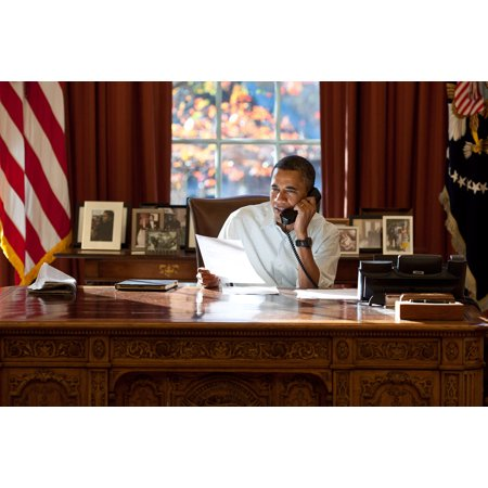 LAMINATED POSTER Nov. 24, 2011 I photograph a lot of presidential phone calls from the Oval Office. But rarely is th Poster Print 24 x 36 ()