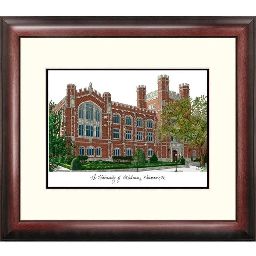 University of Oklahoma Alumnus Framed Lithograph