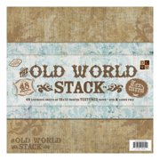 "Paper Stack 12""X12"" 48/Pkg-Old World Texture"