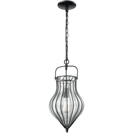 World Of Lamp Wla177804 Pendants Gloss Black Metal Glass Vega