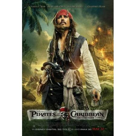 Jack Sparrow On Stranger Tides (Pirates On Stranger Tides Poster Capt. Jack Sparrow Metal Sign 8in x)