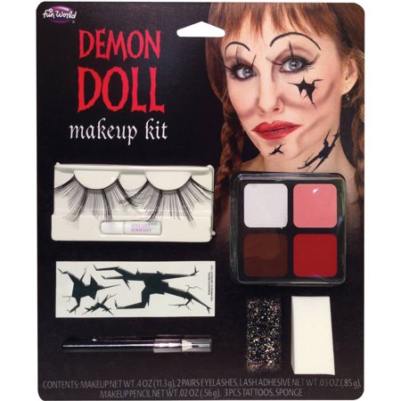 Demon Doll Face Makeup Kit Adult Halloween Accessory](Halloween Doll Face Paint)