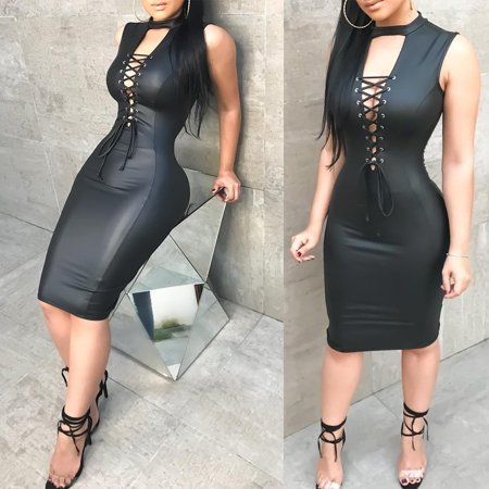 823c488fa0 US Fashion Women Bandage Bodycon Sleeveless Club Evening Party Short Mini  Dress