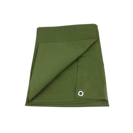 12' x 24' Green Canvas Tarp 12oz Heavy Duty Water Resistant ()