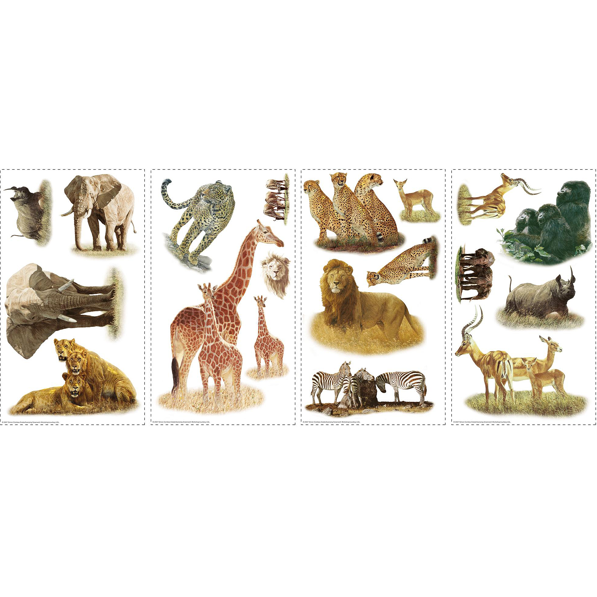 RoomMates Safari Peel and Stick Wall Decals