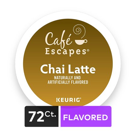 Cafe EscapesR Chai Latte K Cup Coffee Pods 64 Count 4 Packs
