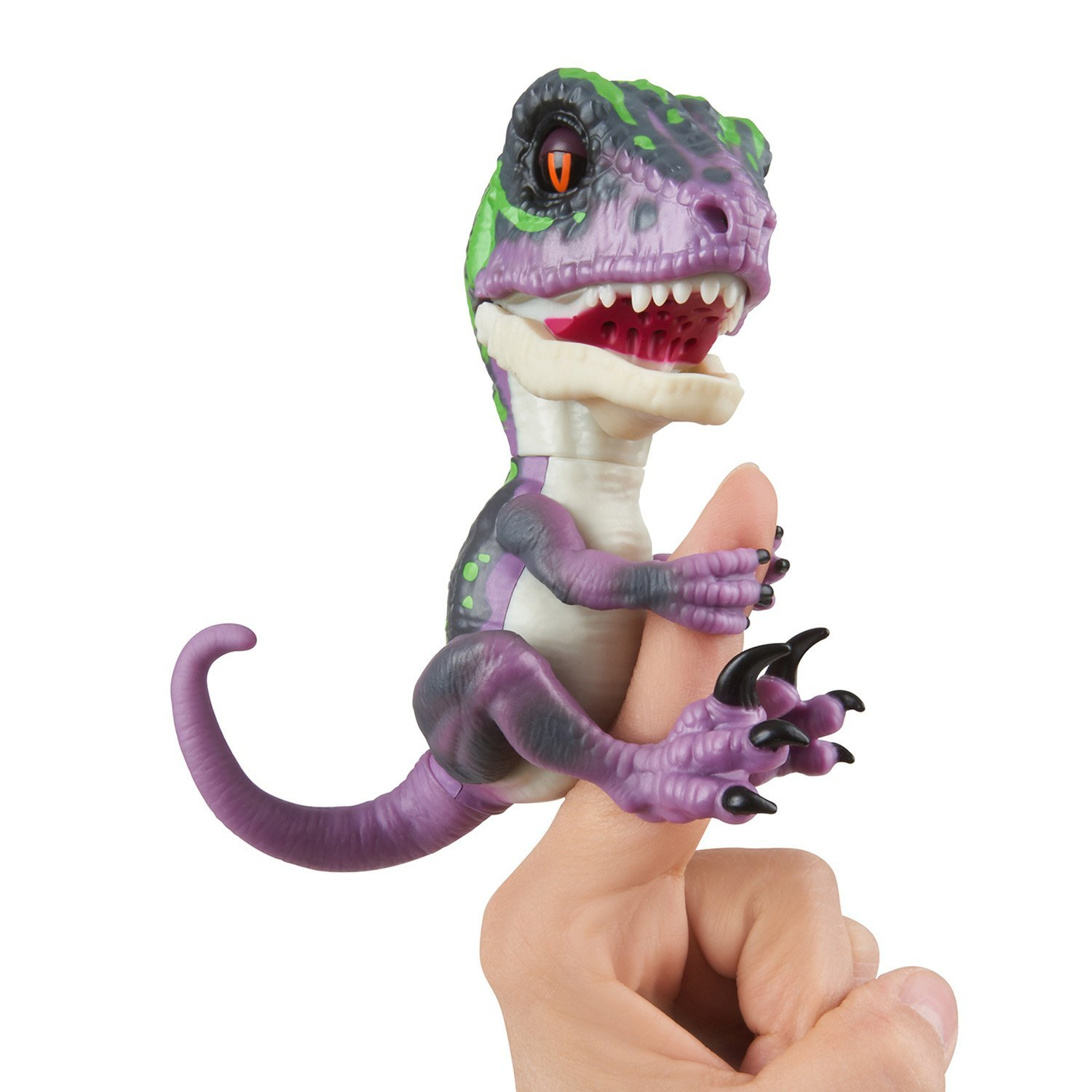 Untamed Raptor by Fingerlings - Razor (Purple) - Interactive Collectible Dinosaur - By WowWee