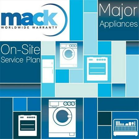 Mack Warranty 1124 5 year Major Appliance Warranty Under 5000