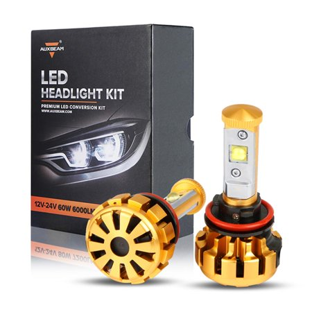 Series Headlight Light - Led Headlights for cars,AUXBEAM CREE LED Headlight Bulbs 2pcs H8 H11 H9 Conversion Kit Series F-16 6000K 6000lm 60W Headlamp Car Replace Driving Fog Lights Auto Replacement