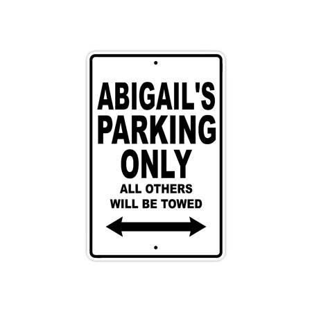 Boston Red Sox Parking Sign (Abigail's Parking Only All Others Will Be Towed Name Gift Novelty Metal Aluminum 8