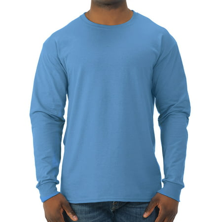 Jerzees Mens dri-power long sleeve crewneck t shirt - Peasant Shirt Mens