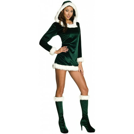 Sexy Green Helper Adult Costume - (Jolly Green Santa's Helper Christmas Costumes)
