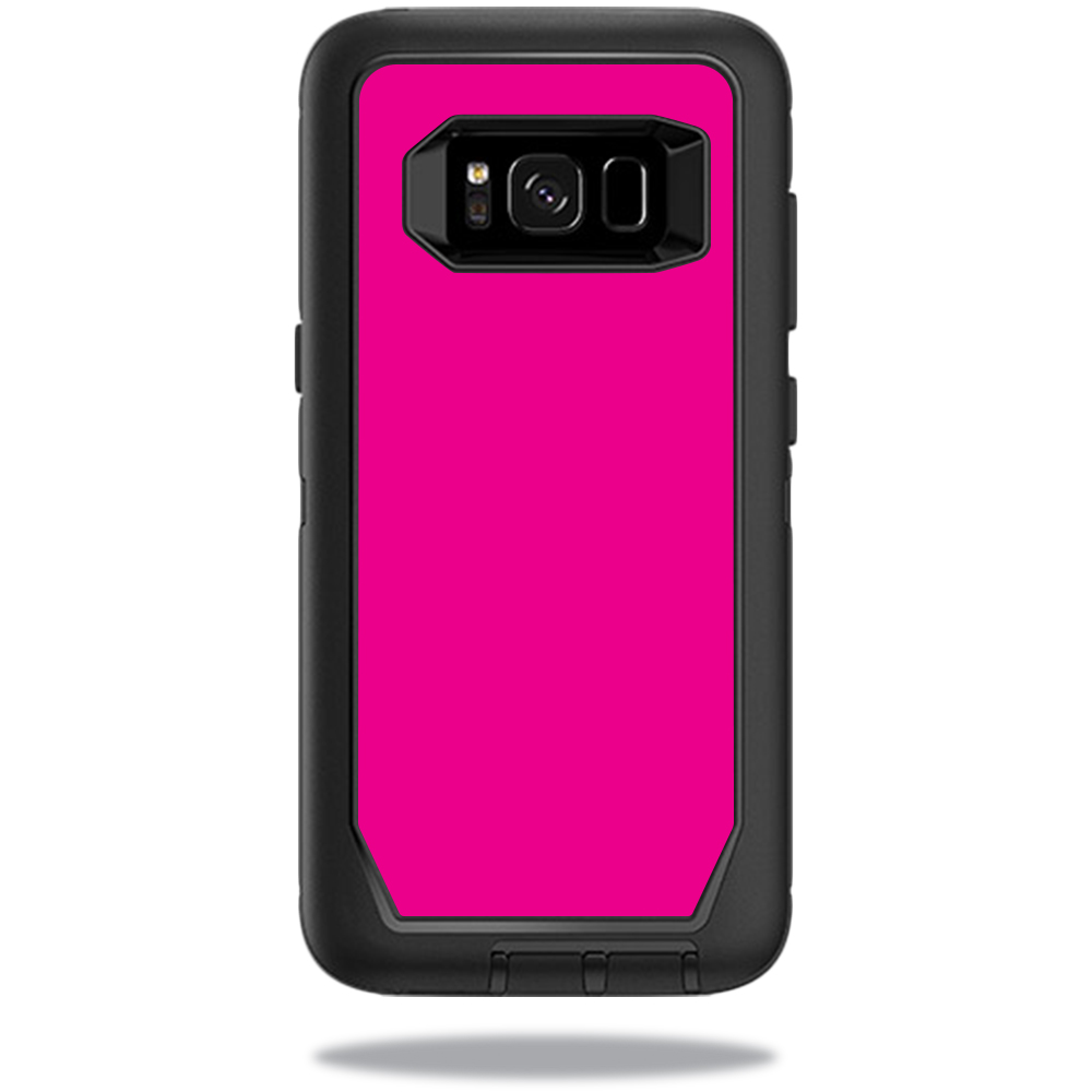 MightySkins Protective Vinyl Skin Decal for OtterBox DefenderSamsung Galaxy S8 Case sticker wrap cover sticker skins Solid Hot Pink