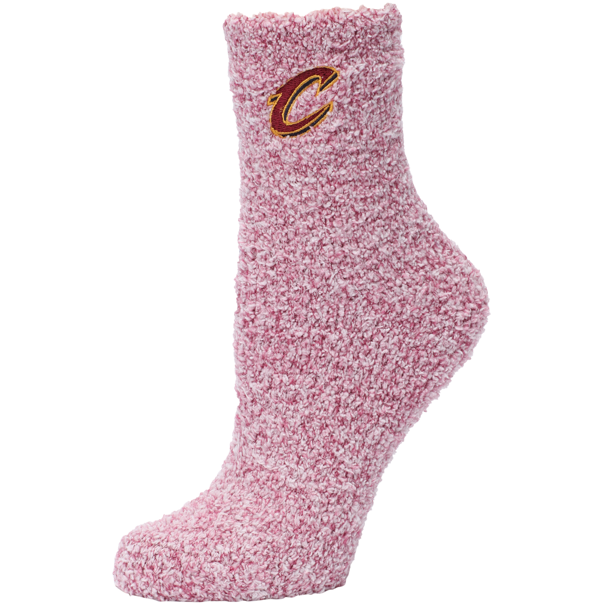 Cleveland Cavaliers Women's Fuzzy Block Tri-Blend Socks - Wine - M