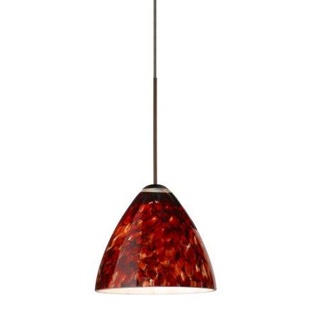 Besa Lighting 1XT-177941-LED Mia 1 Light LED Cord-Hung Mini Pendant with Garnet