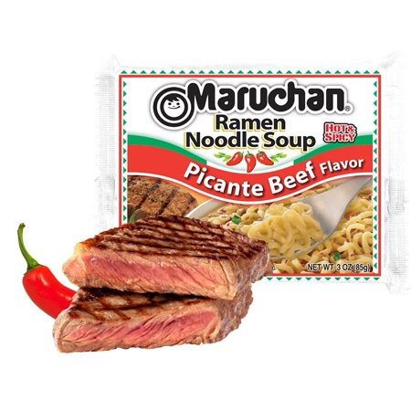 (24 Packs) Maruchan Picante Beef Instant Ramen, 3 (Best Ramen In Minneapolis)