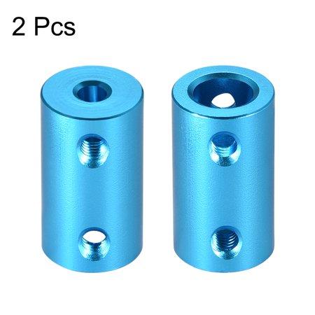 Shaft Coupling 4mm to 8mm Bore L25xD14 Robot Motor Wheel Rigid Coupler Blue 2PCS - image 3 de 3
