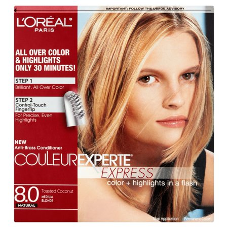 L'Oreal Paris Couleur Experte Hair Color + Hair Highlights, Medium Blonde - Toasted Coconut, 1
