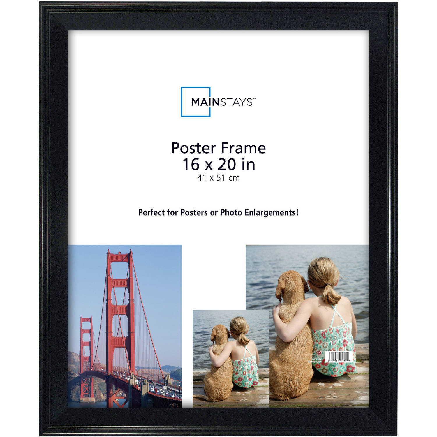 Mainstays 16x20 Casual Poster and Picture Frame, Black