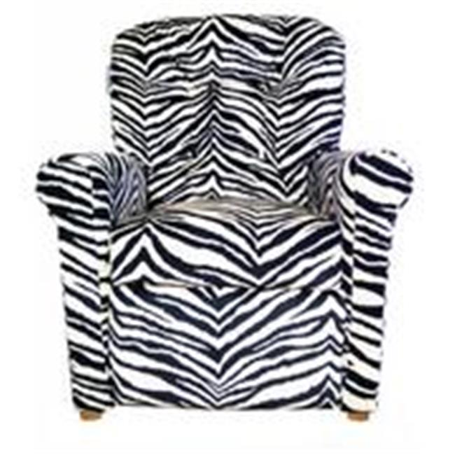 Dozydotes 14080 Child Recliner - 4 Button Zebra Print