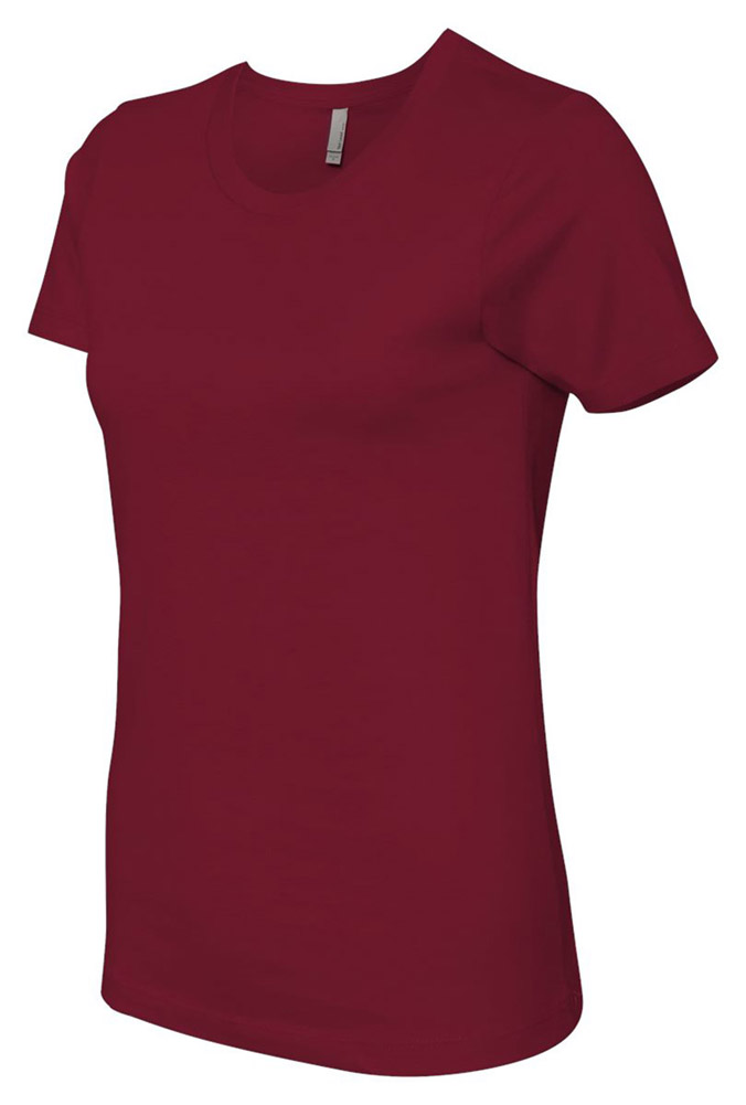 Next Level 3900 Signature Style Boyfriend Jersey T-Shirt - Scarlet - X-Small