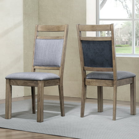 Roundhill Furniture Costa Bella Dining Collection Solid Wood Chairs, Set of 2 Bella Dining Chair