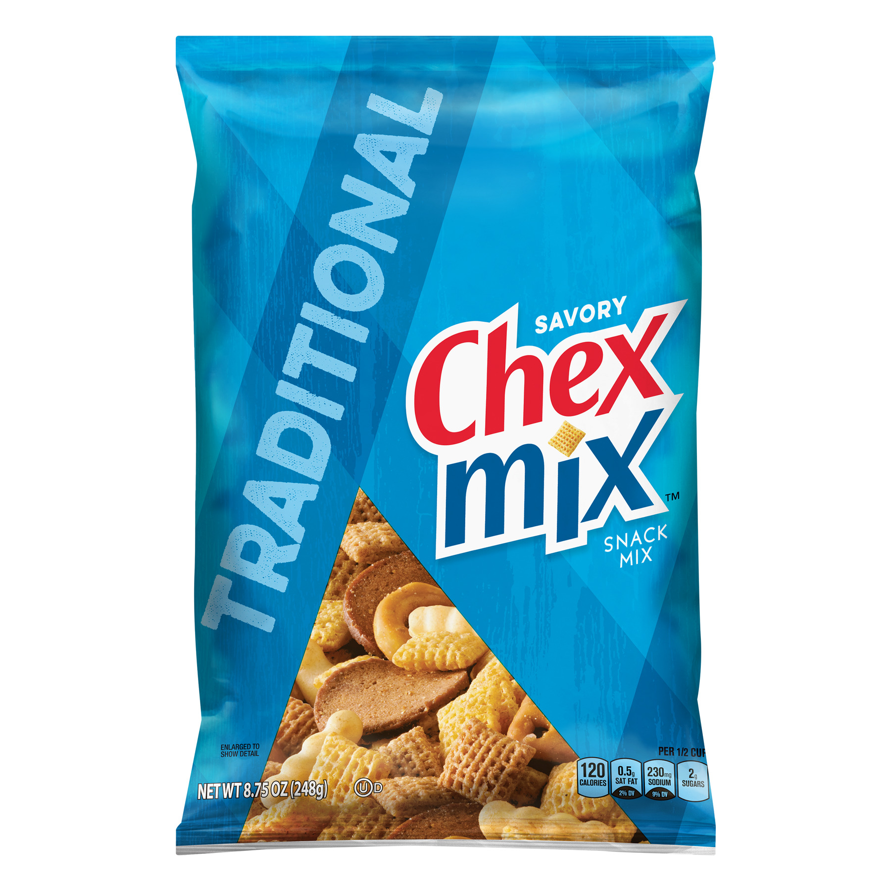 Chex Mix Traditional Savory Snack Mix, 8.75 oz Bag