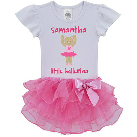 Sandra Magsamen Personalized Toddler Girl Little Ballerina Tutu Dress, Multi-Color