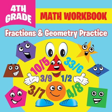 4th Grade Math Workbook: Fractions & Geometry Practice (Paperback)