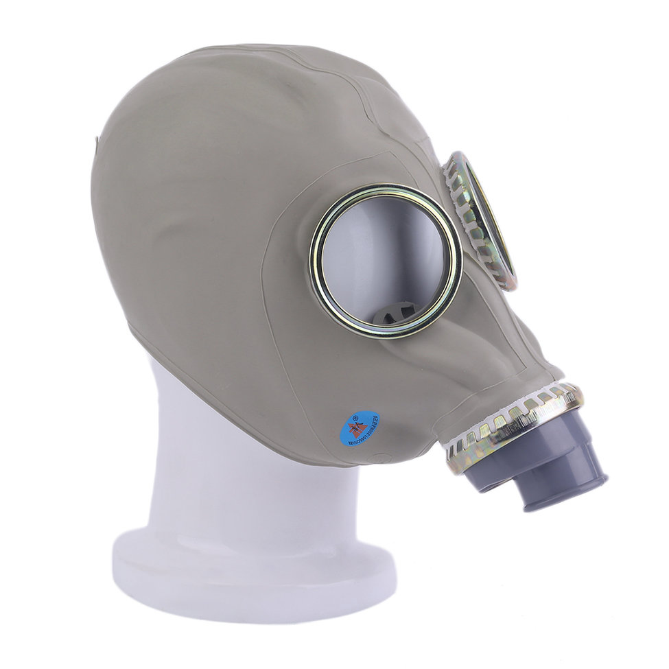 Pratical Gas Mask Emergency Survival Safety Respiratory Gas Mask Anti Dust Respirator Mask Rubber Military Hose Unissued by