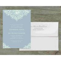 Flourished Medallion Deluxe Wedding Invitation