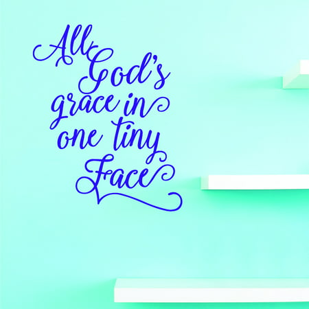 New Wall Ideas All Gods Grace In One Tiny Face 10 X 20 Inches ()