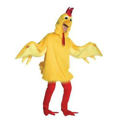 IN-MC1336 Fuzzy Chicken Halloween Costume for Adults  By Fun Express for $<!---->