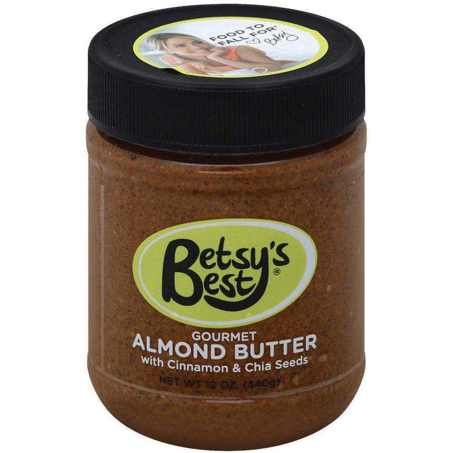 Betsy's Best Gourmet Almond Butter with Cinnamon & Chia Seeds, 12 oz, (Pack of 6)