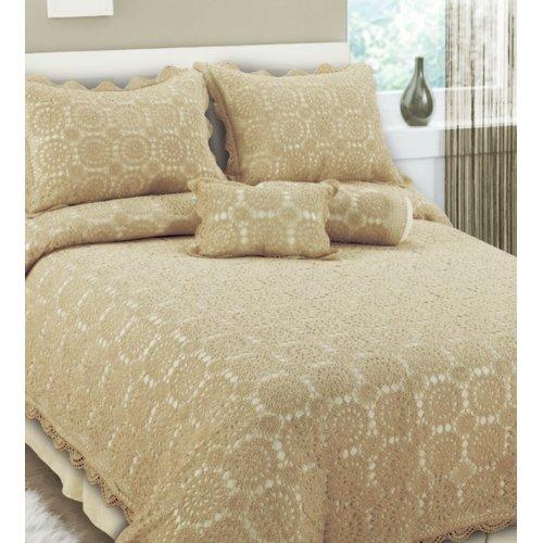 Melange Home Handmade Crochet Coverlet