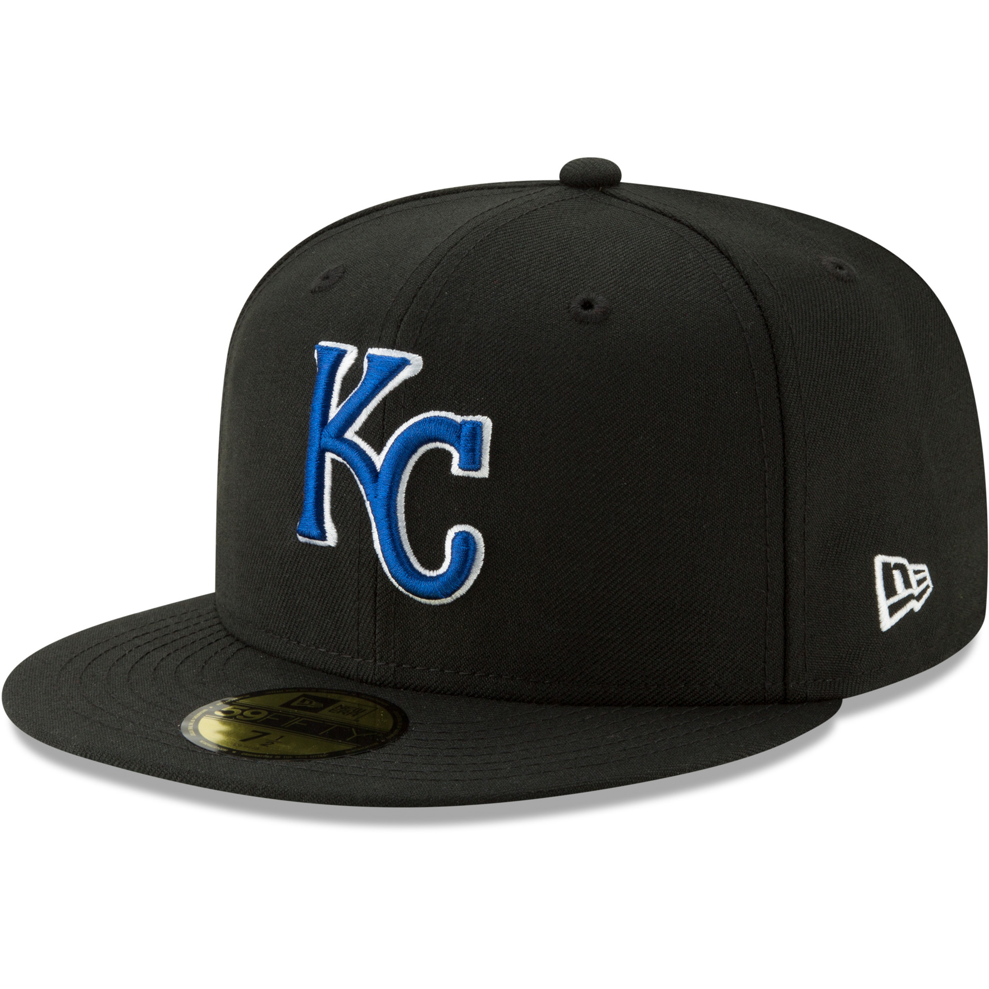 Kansas City Royals New Era Cooperstown Collection Alt Logo Pack 59FIFTY Fitted Hat - Black