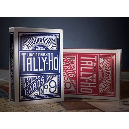Playing Cards Poker Circle - 2 DECKS OF TALLY HO No 9 ORIGINAL CIRCLE BACK STANDARD POKER PLAYING CARDS RED AND BLUE DECK