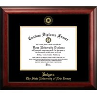 "Rutgers University, The State University of New Jersey, 8.5"" x 11"" Gold Embossed Diploma Frame"