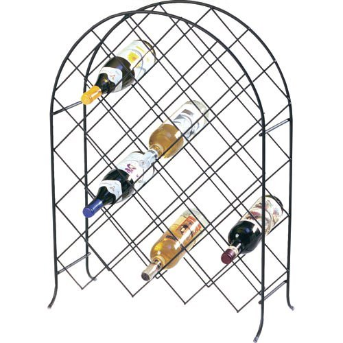 Spectrum Black 30 Bottle Trellis Wine Rack