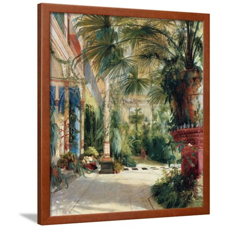 The Interior of the Palm House, 1832-1833 Framed Print Wall Art By Carl Blechen (Antique Palm Frame Art Print)