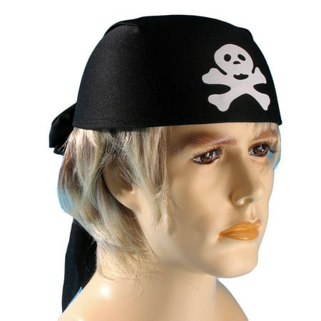 Loftus Pirate Skull and Crossbones Head Scarf, Black, One Size (Pirate Scarf)