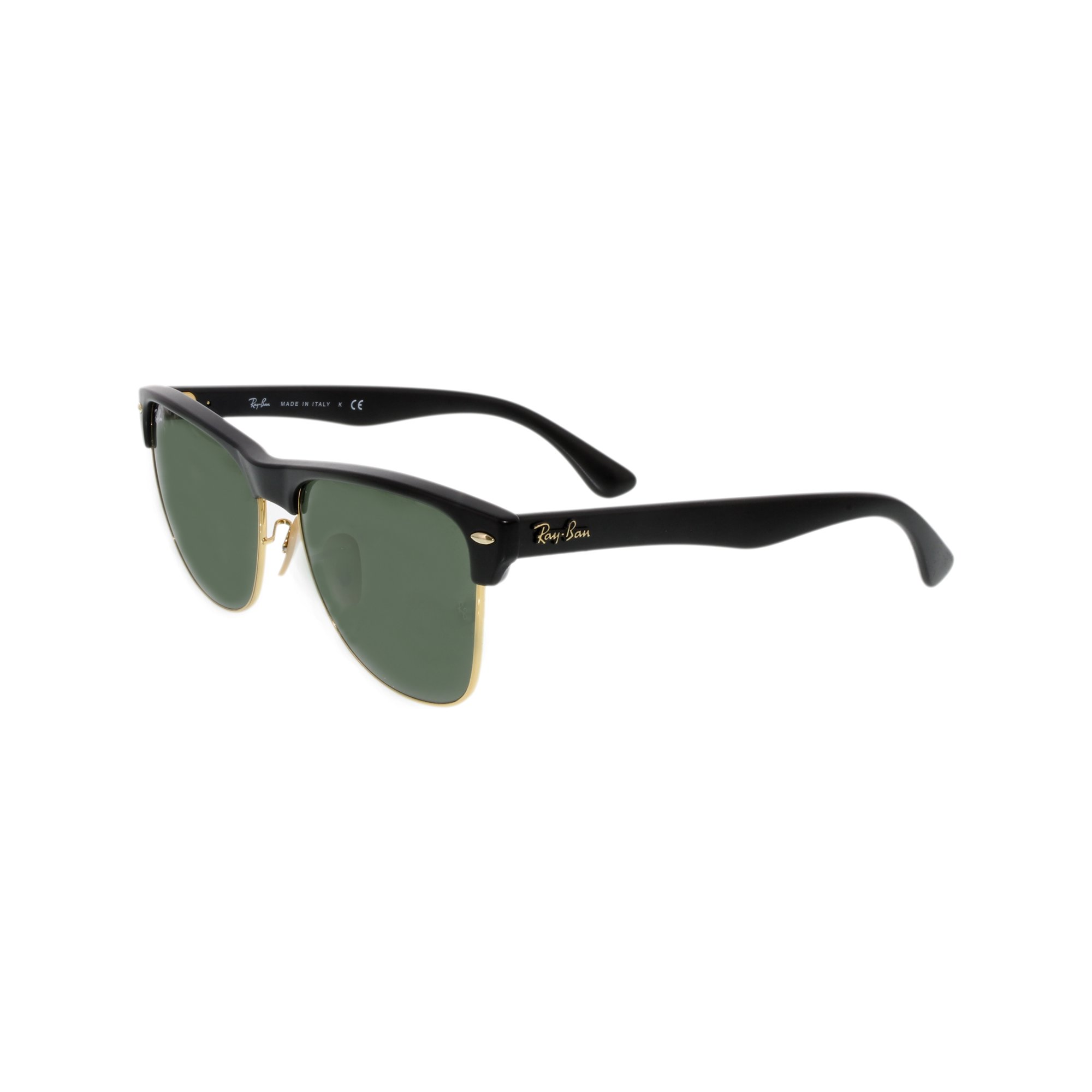 2dbaaacc4a1d6 Ray-Ban Men s Clubmaster Oversized RB4175-877-57 Black Square Sunglasses