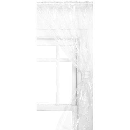 Super Clear Double Swag Vinyl Bathroom Window Curtains W