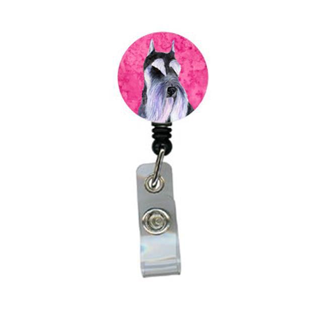 Carolines Treasures SS4753-PK-BR Schnauzer Retractable Badge Reel Or Id Holder With Clip - image 1 de 1
