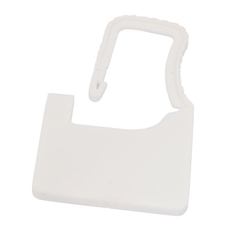 60mm x 38mm x 3.6mm Plastic Seal Padlock White for Luggage Trunk (Padlock Trunk)